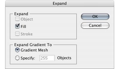 Expand в Gradient Mesh