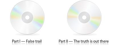 Результат — два компакт-диска рядом