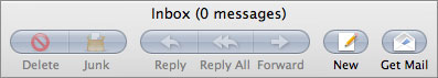 Apple Mail toolbar