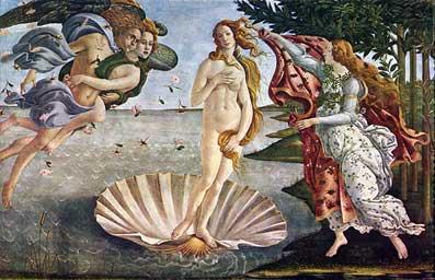 Сандро Ботичелли. Рождение Венеры