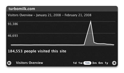 Статистика посещений сайта turbomilk.com