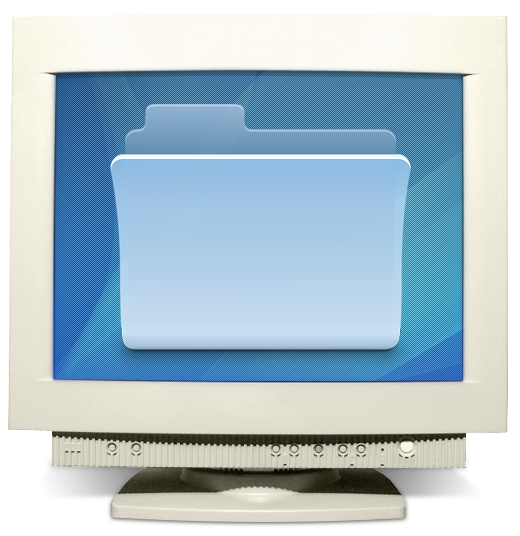 Иконка 512x512 на четырнадцатидюймовом мониторе